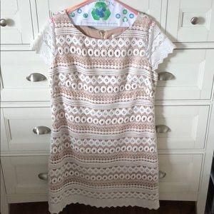 Eliza J Geo Lace Sheath Dress